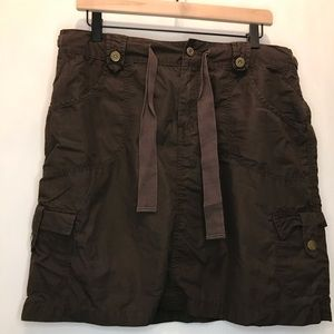 Old Navy Brown Utility Skirt